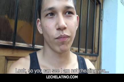 Latino twink gives pov blowjob-LECHELATINO.COM